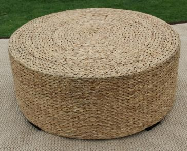 hand woven seagrass coffee tables in a knit-weave of water