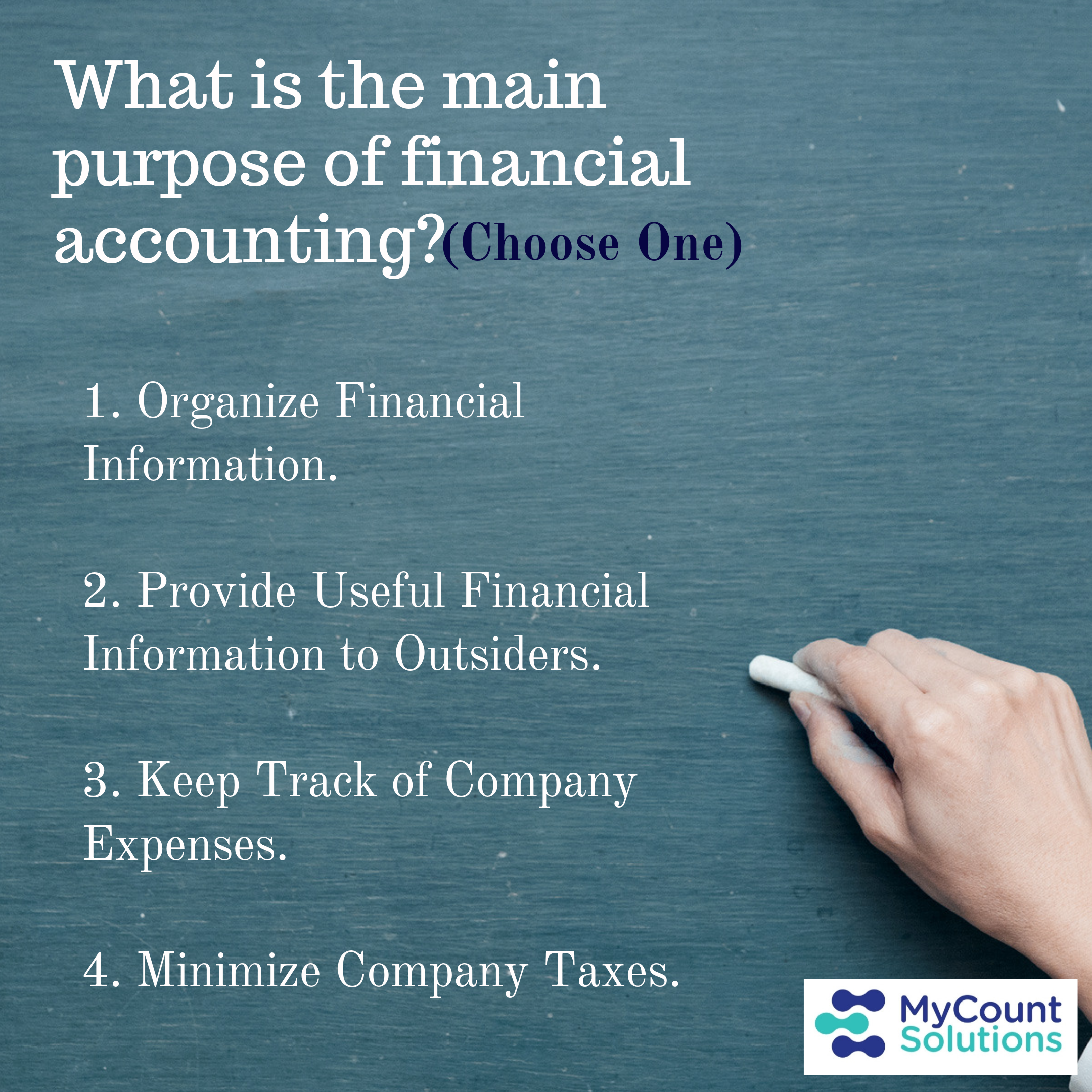 What Is The Main Purpose Of Financial Accounting