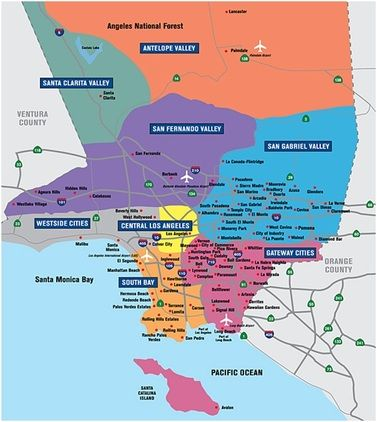 Current Issues Los Angeles Map Los Angeles County California Map