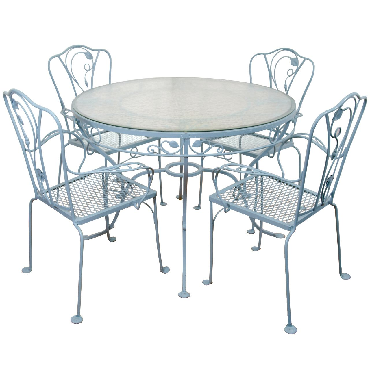 1stdibs Vintage Salterini Wrought Iron Table And Chairs In