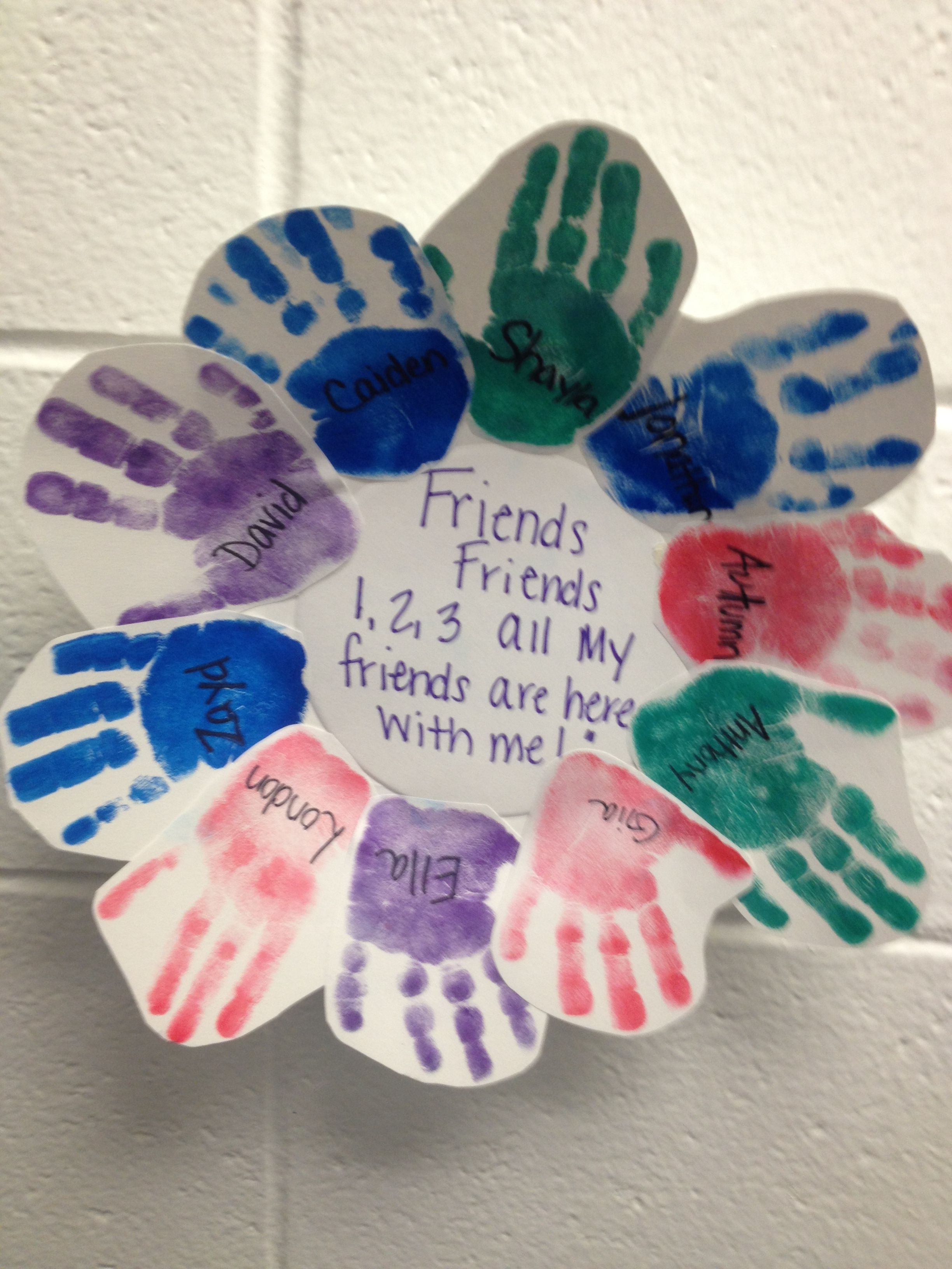 Predownload: Pin By Latoya Morton On Crafts For Kids Preschool Friendship Friendship Crafts Preschool Crafts [ 3264 x 2448 Pixel ]