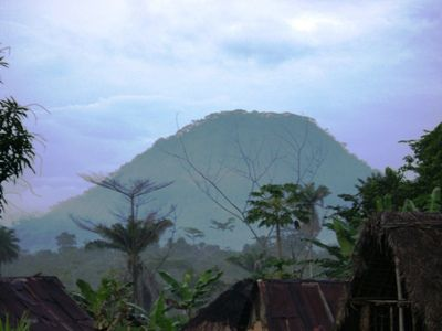 A view of one of the mountains in the Nimba Reserve
