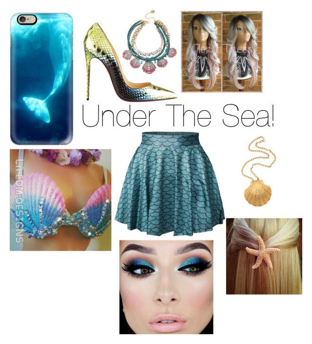 """A Mermaid Tale"" by supergirl943 ❤ liked on Polyvore featuring Casetify, Disney, Christian Louboutin and Betsey Johnson"