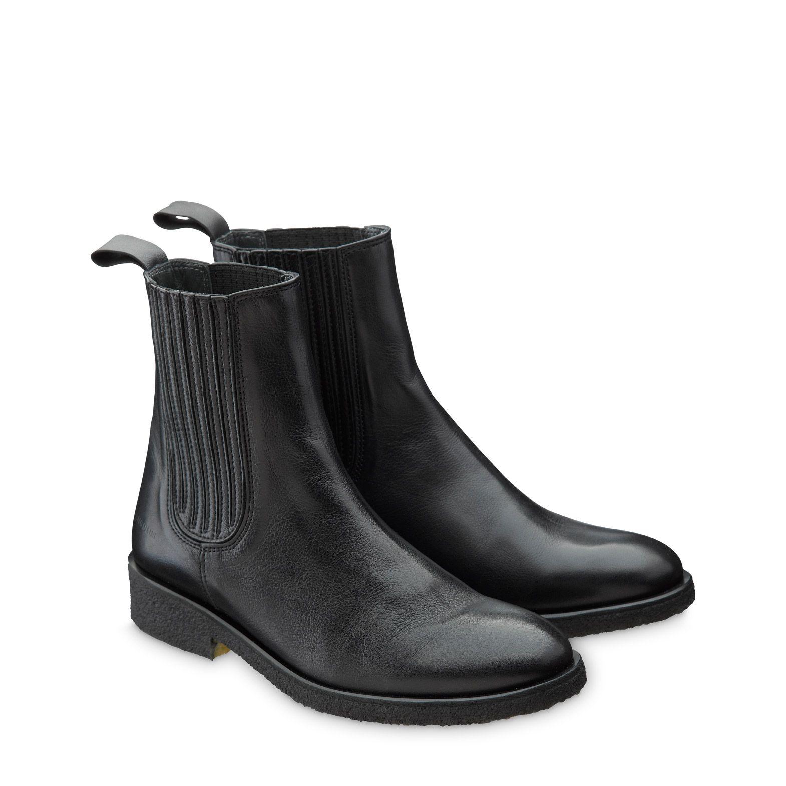 521d5f74ea1 ANGULUS Sort 1604 Chelsea støvle med elastik | Gratis fragt over 745 kr.