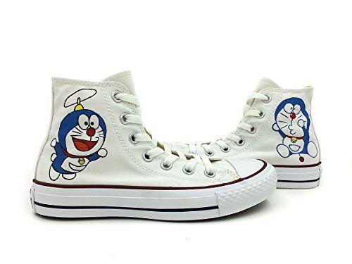 Doraemon Converse All Star Shoes Men Women Hand Painted HIgh