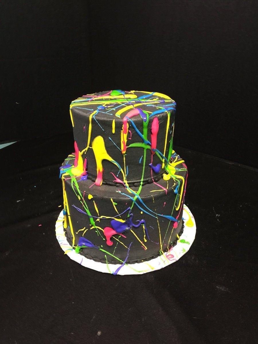 Pin By Liney Bjork On Birthday Neon Birthday Cakes Neon