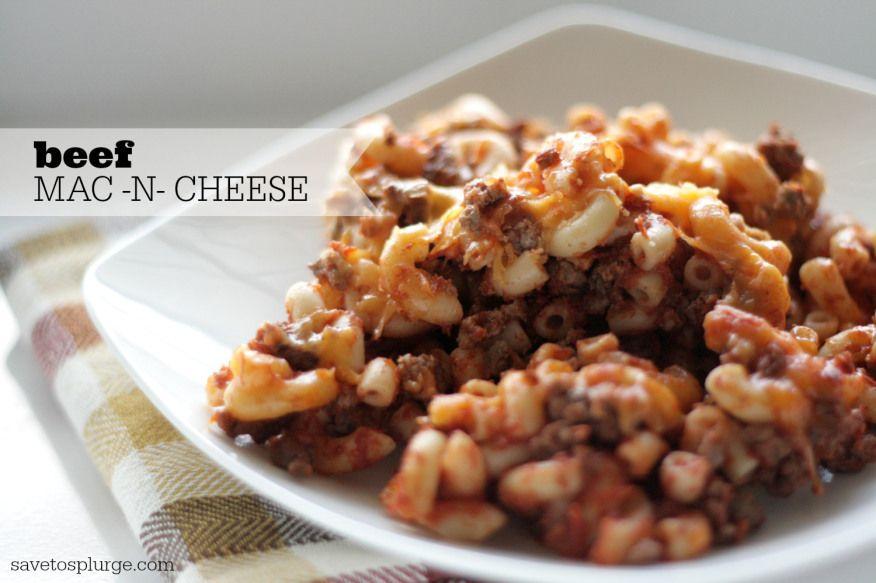 beef mac n cheese, beef macaroni and cheese, beefy mac n cheese, mac n cheese with meat
