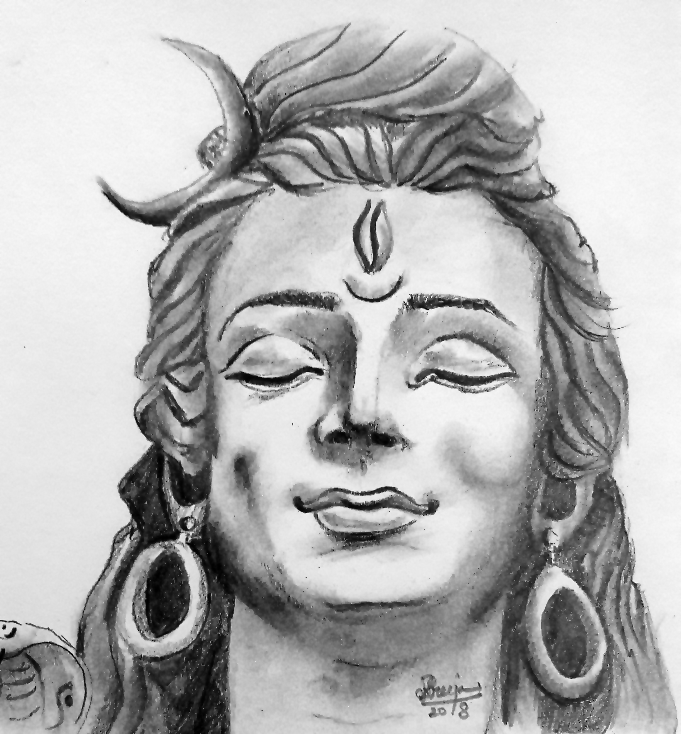 Mahadev sketch by sreeja renganath