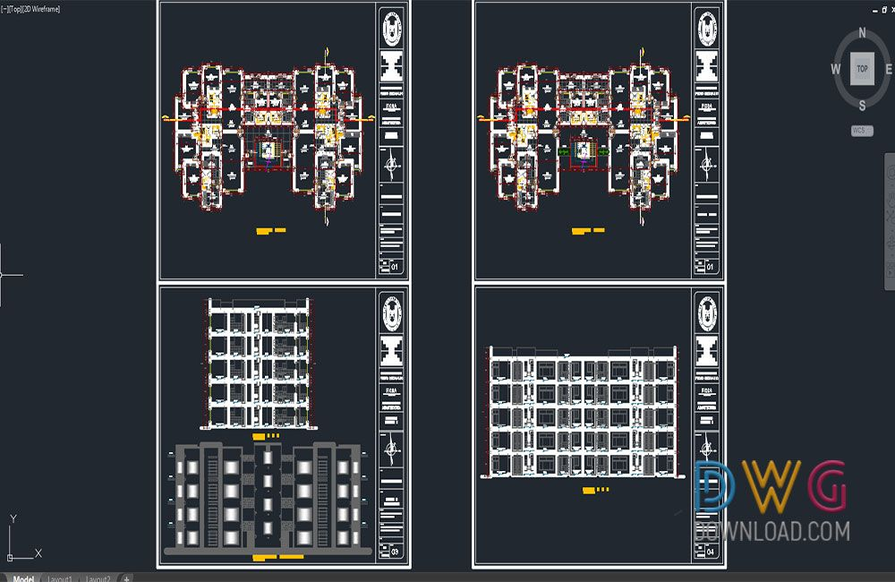 Dwg Download -Multifamily Project Residential Dwg