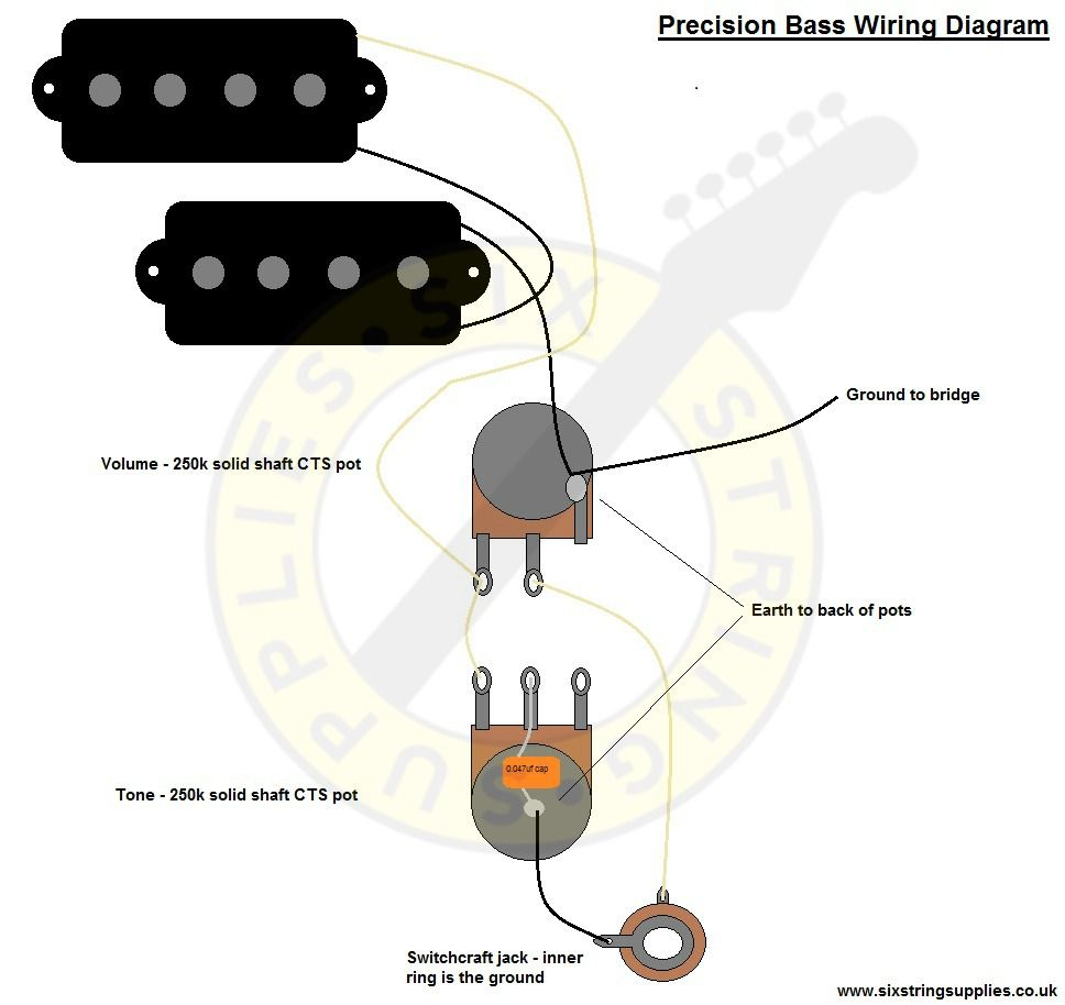 Precision Bass Wiring Diagram | Guitar Wiring Diagrams | Pinterest ...