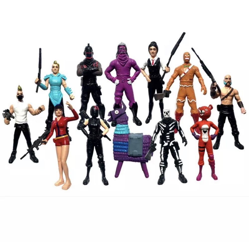 12 Piece Fortnite Action Figure Set Huntress Rednight Galaxy Rook
