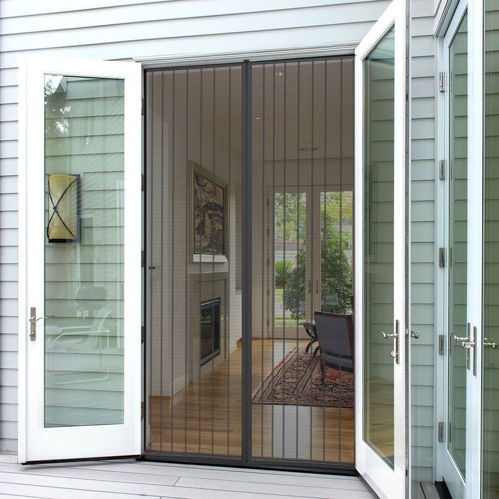 9 57 Insect Fly Screen Against Mosquito Bug Magnetic Auto Closing Mesh Door Curtain Ebay Home Garden French Doors With Screens Magnetic Screen Door French Doors