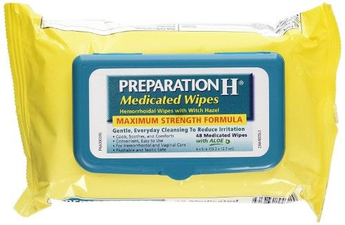 Preparation H Medicated Wipes Pouch Maximum Strength Witch Hazel