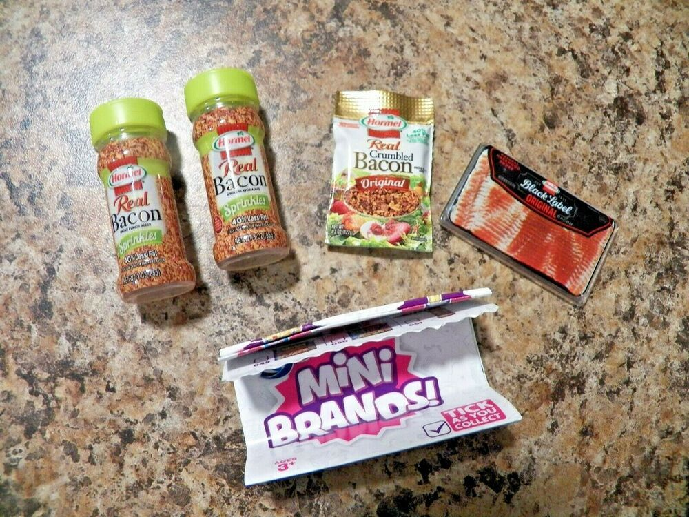 NEW Brand Name Mini Barbie Scale Accessory food//grocery item HORMEL BACON PIECES
