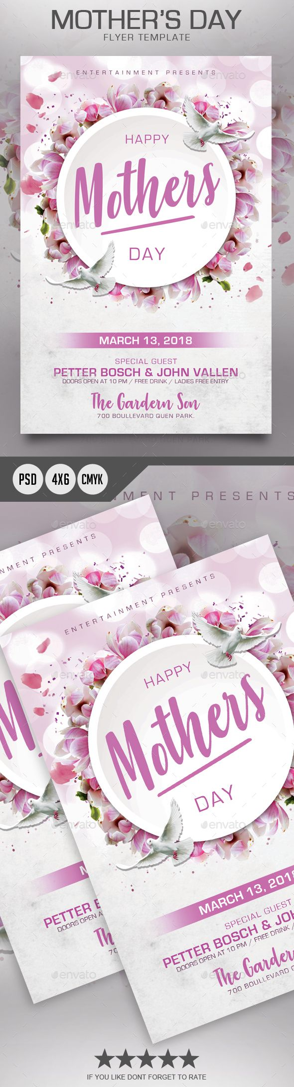 Mothers Day Flyer Announcement Card Cards Celebration