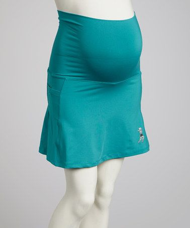 Take a look at this Turquoise Maternity Skirt by Running Skirts on #zulily today!