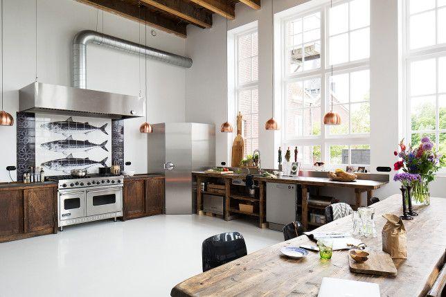 Retour à l\u0027école Pinterest Kitchens, Interiors and Reclaimed kitchen