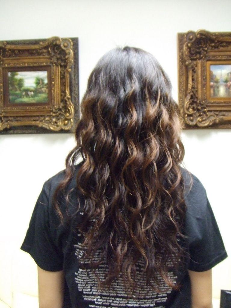 loose wave perm long hair ideas about beach wave perm on