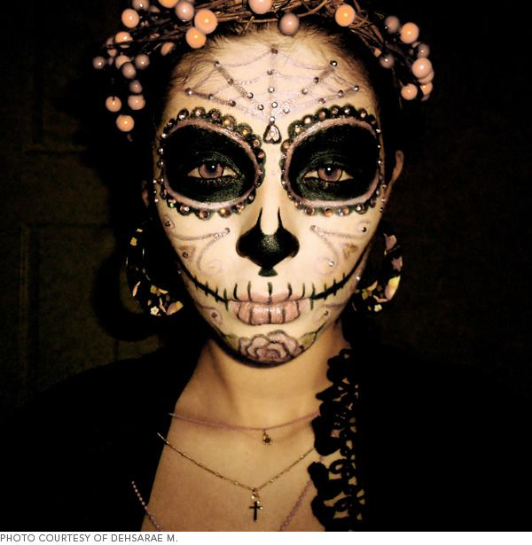 les 25 meilleures id es de la cat gorie maquillage sugar skull sur pinterest costume calavera. Black Bedroom Furniture Sets. Home Design Ideas
