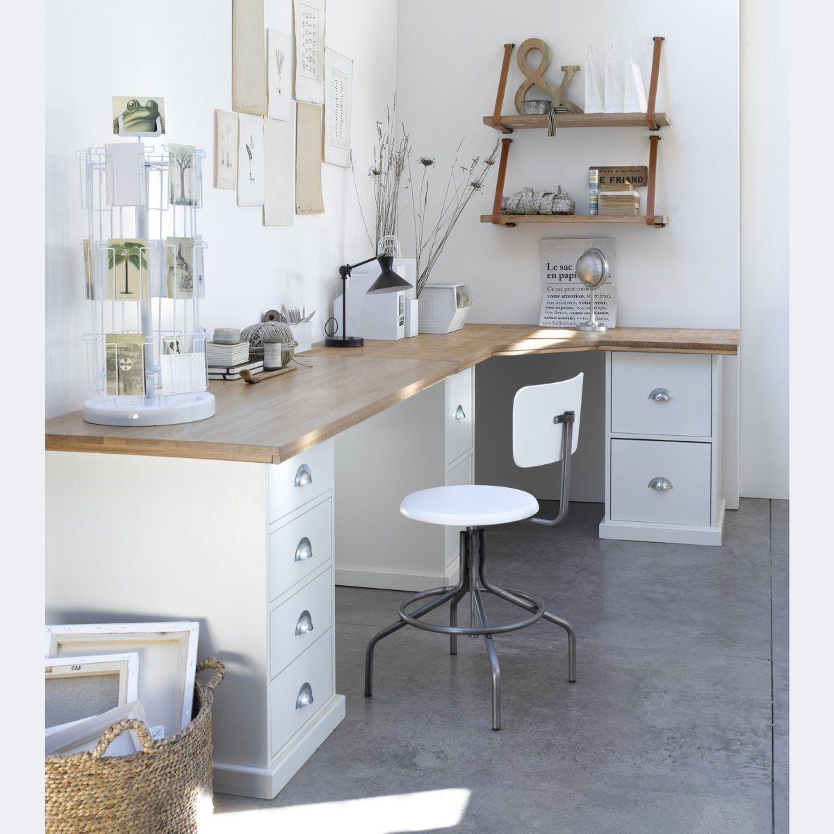plateau d 39 angle pin tanguy am pm la redoute mobile home sweet home pinterest bureau. Black Bedroom Furniture Sets. Home Design Ideas