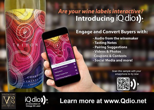 iQ-dio Interactive Wine Labels - Give your wine a voice!