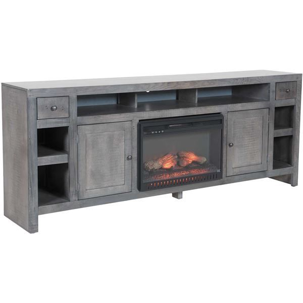 Del Mar 84 Console Fireplace Rain Gray By Golden Oak Whalen