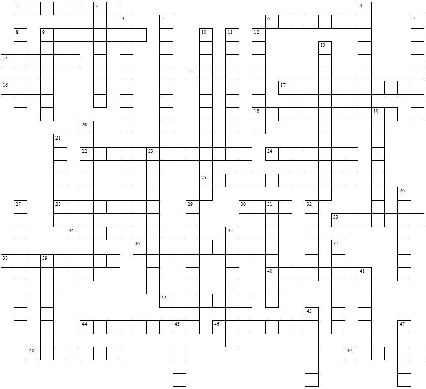 Blank Crossword Template Being In The Profession Of Day Care You