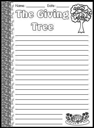 image relating to The Giving Tree Printable Worksheets referred to as The Delivering Tree Lesson Courses: Shel Silverstein Producing