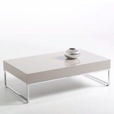 table basse, laquée haute brillance, version rectangulaire, newark
