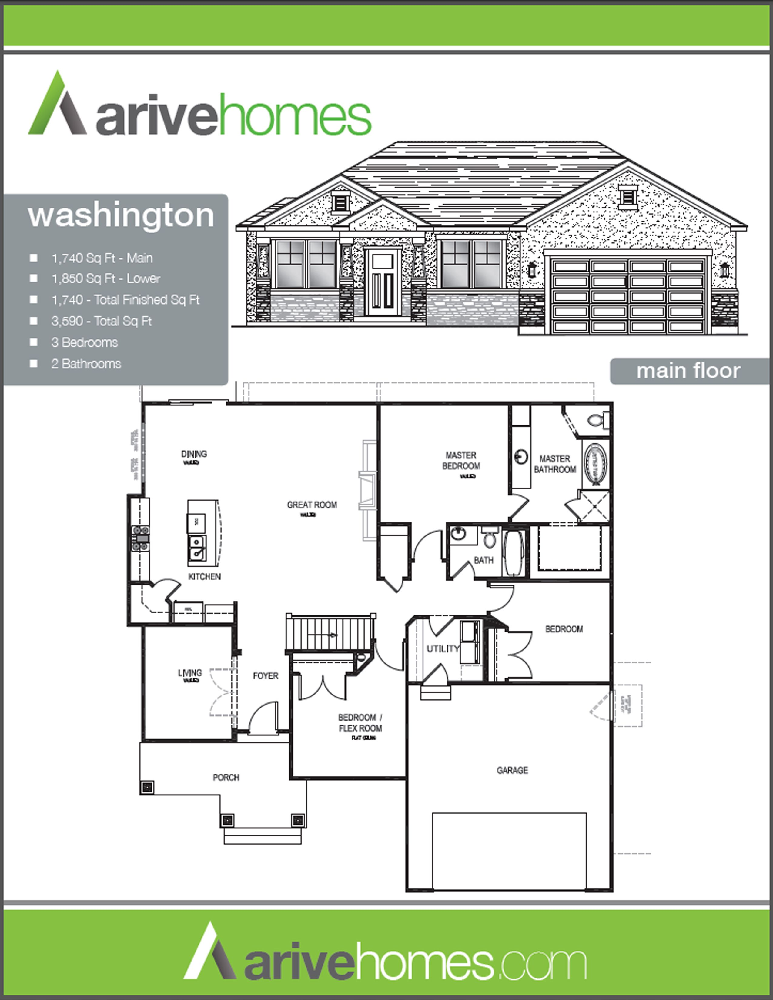 Arive homes the washington main floor building  house plans also dream home pinterest rh