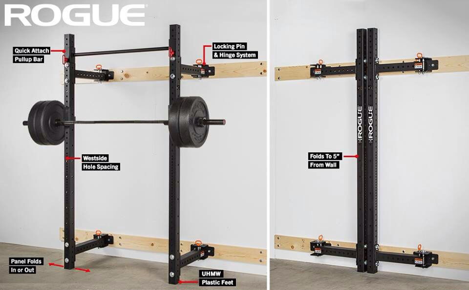 Collapsible squat rack for the house at home gym