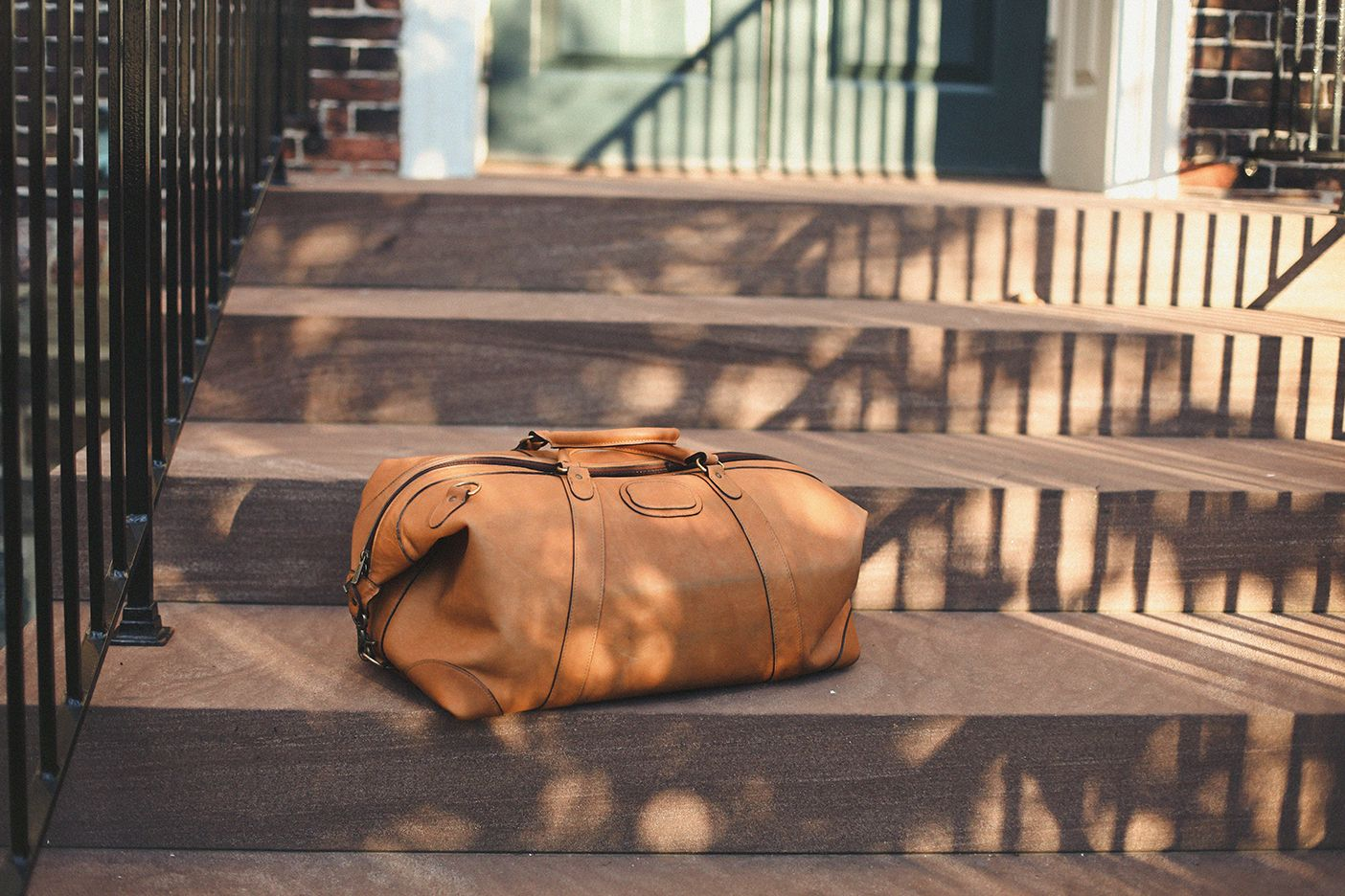 The Twain leather duffel bag featured on @Anchor Division