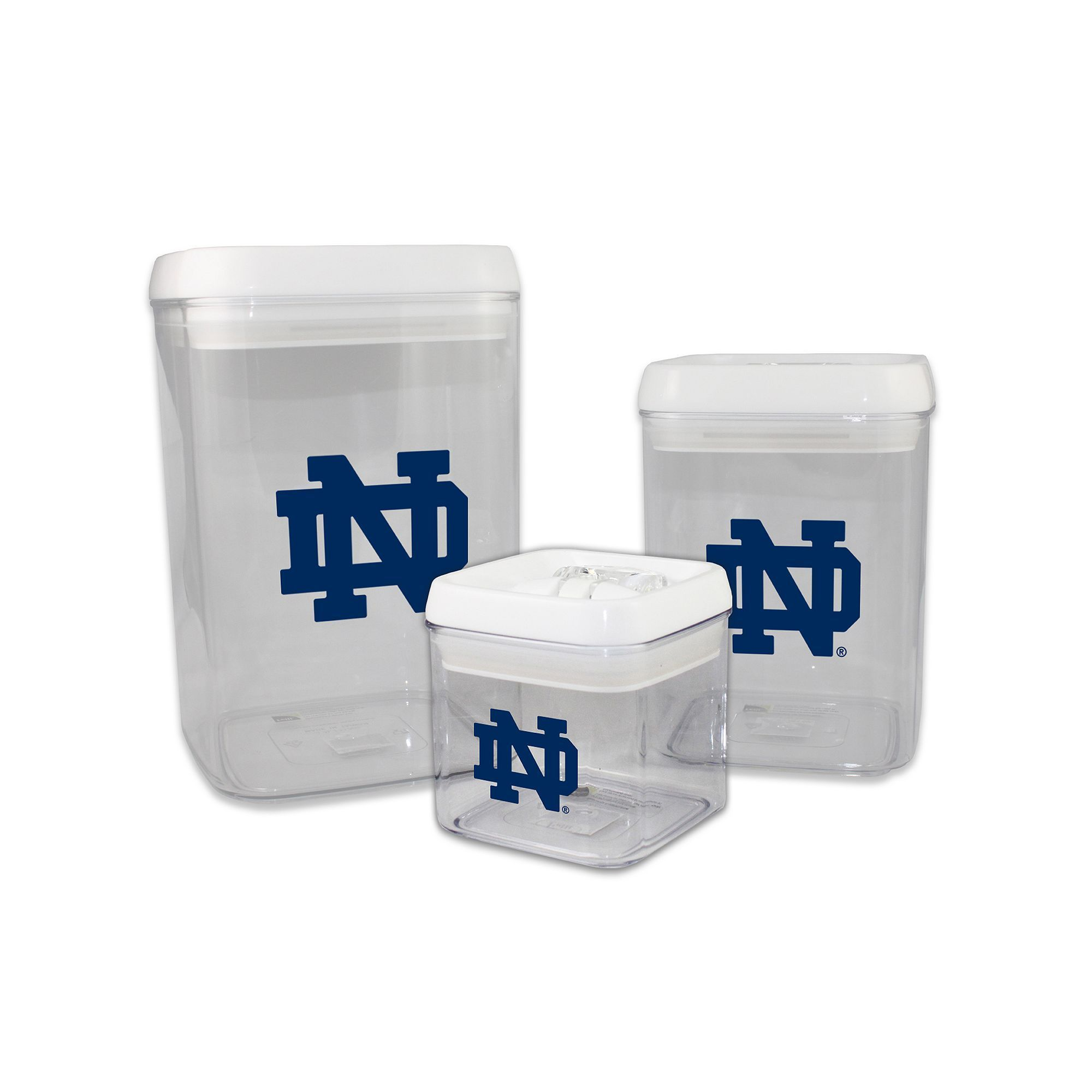 Notre Dame Fighting Irish 3 Piece Storage Container Set Multicolor