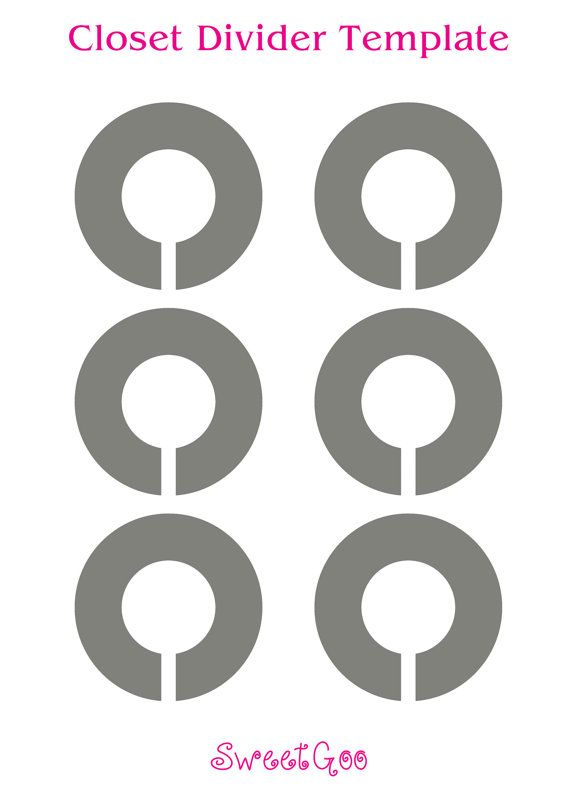 Instant download round closet divider template closet for Clothes divider template