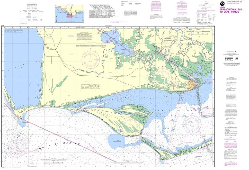 noaa nautical chart intracoastal waterway apalachicola bay to lake wimico