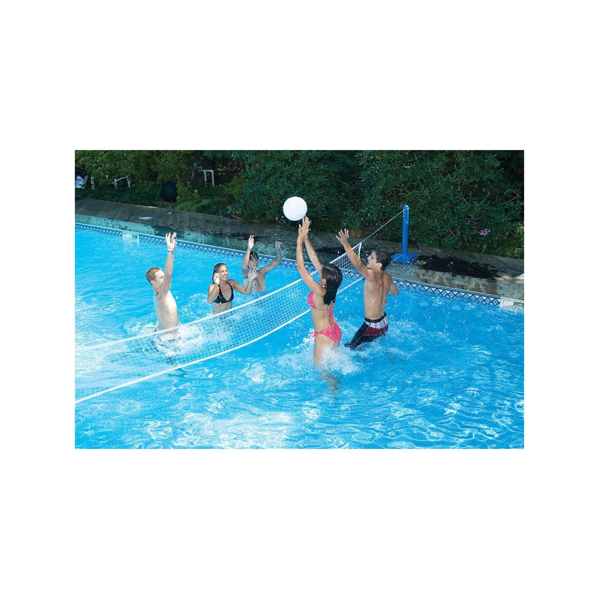 Swimline 20 Volleyball Weighted Net Support Swimming Pool Game White Blue In 2019 Products Swimming Pool Games Pool Games Swimming Pools