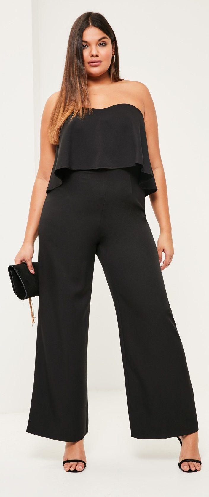 987eda8e2d plus size wide leg jumpsuit | Plus Size Fashion | Plus size romper ...