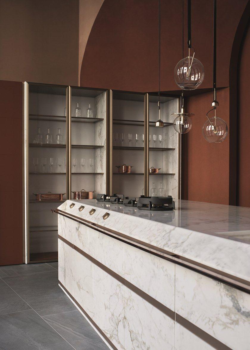 Calacatta oro marble fitted kitchen ginger by fendi cucine kitchens design nel 2019 - Illuminazione cucina consigli ...