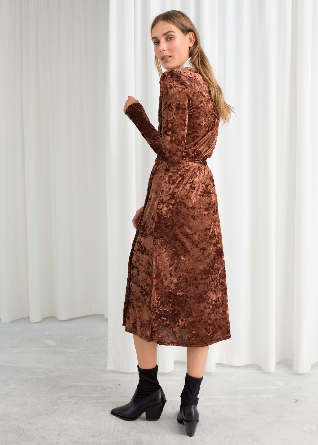 Crushed Velvet Wrap Dress Dresses Velvet Wrap Dress Wrap Dress