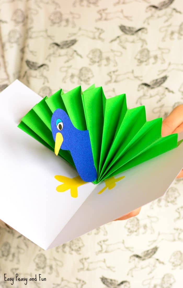Peacock Pop Up Card Paper Craft Program Serbest Zaman