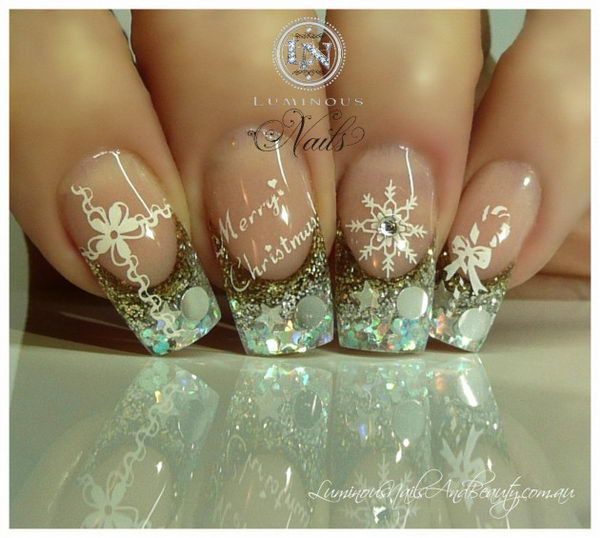 Cool Christmas Nail Designs. Decorate your nails in the spirit of ...