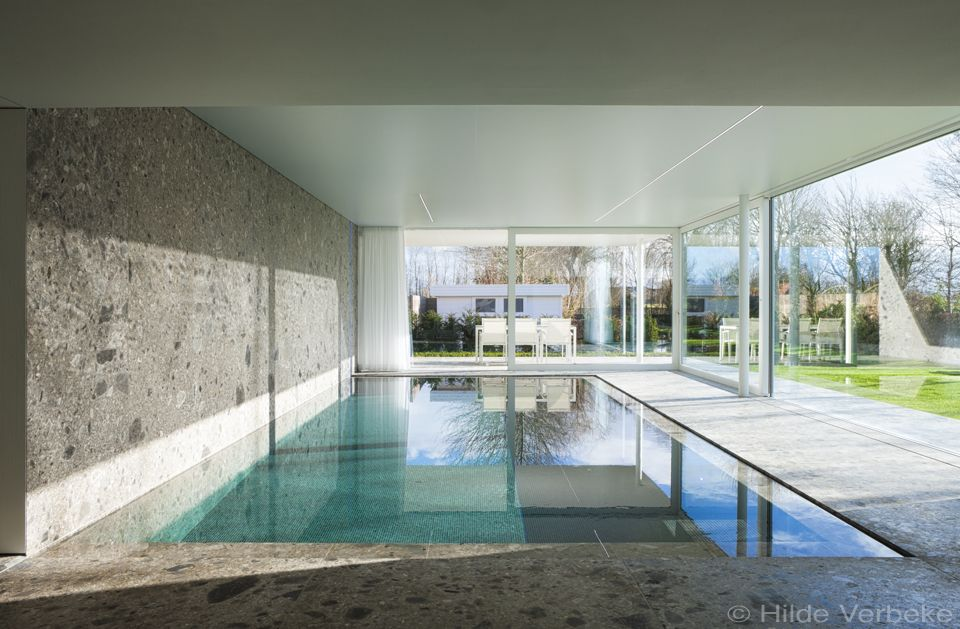 Like the wall going into the pool from the ceiling.  Love the clean lines