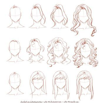 How I Draw Long Hair By Nikemv How To Draw Hair Drawings Sketches