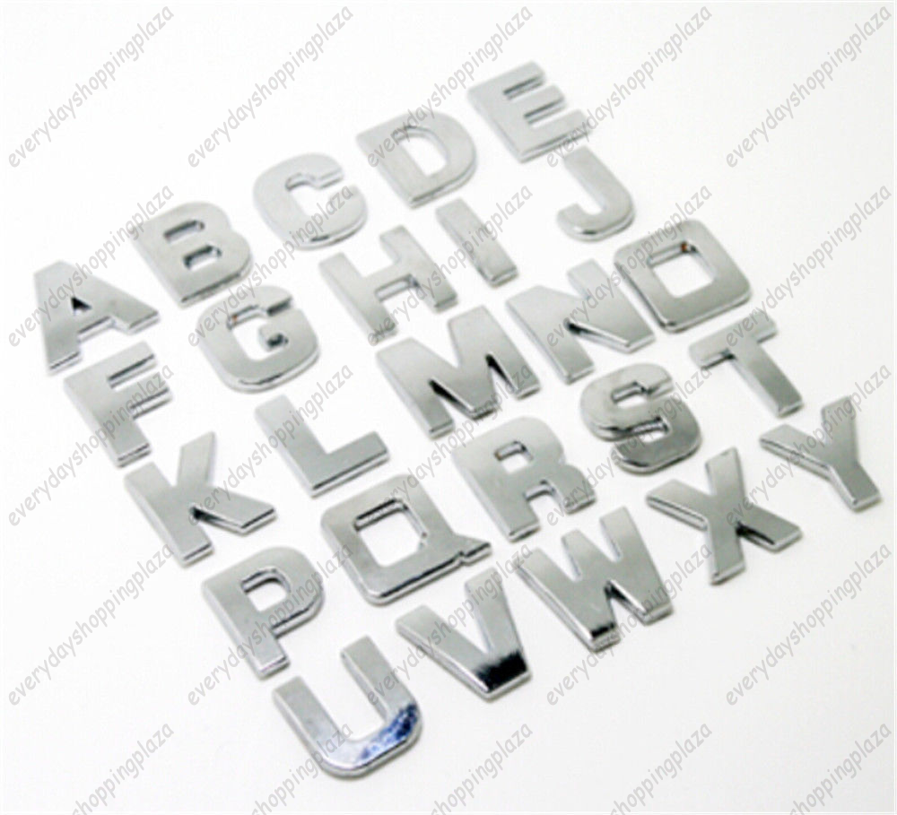 Cool awesome 40pcs car alphabet letter number symbol emblem badge cool awesome 40pcs car alphabet letter number symbol emblem badge decal stickers steel diy 3d 2017 biocorpaavc Images