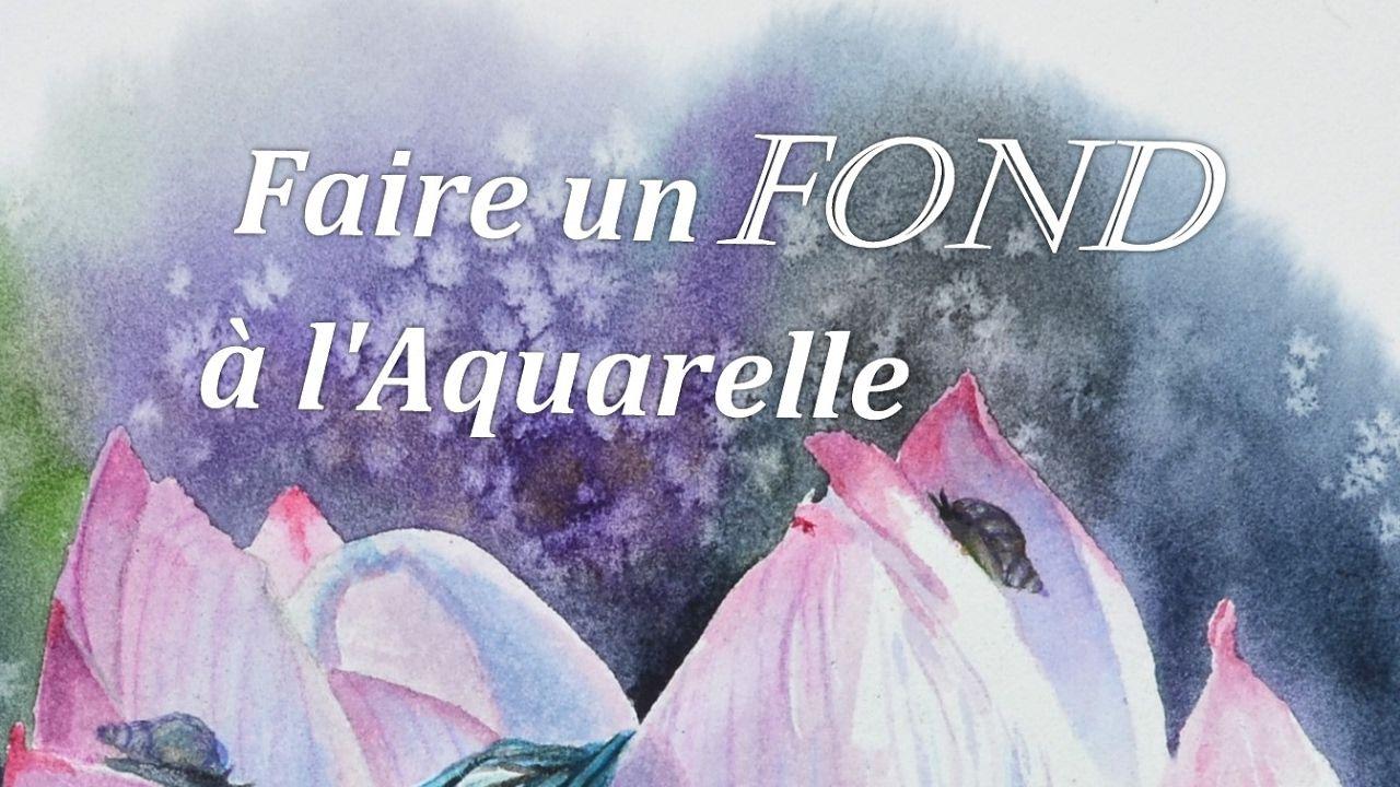Faire Un Fond A L Aquarelle Debutants Aquarelle Tulipe Dessin
