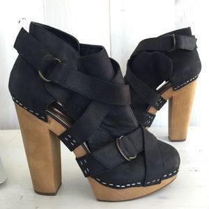 """I just discovered this while shopping on Poshmark: /Steven/ """"GEEMA"""" platform booties / ankle boots. Check it out! Price: $50 Size: 9"""