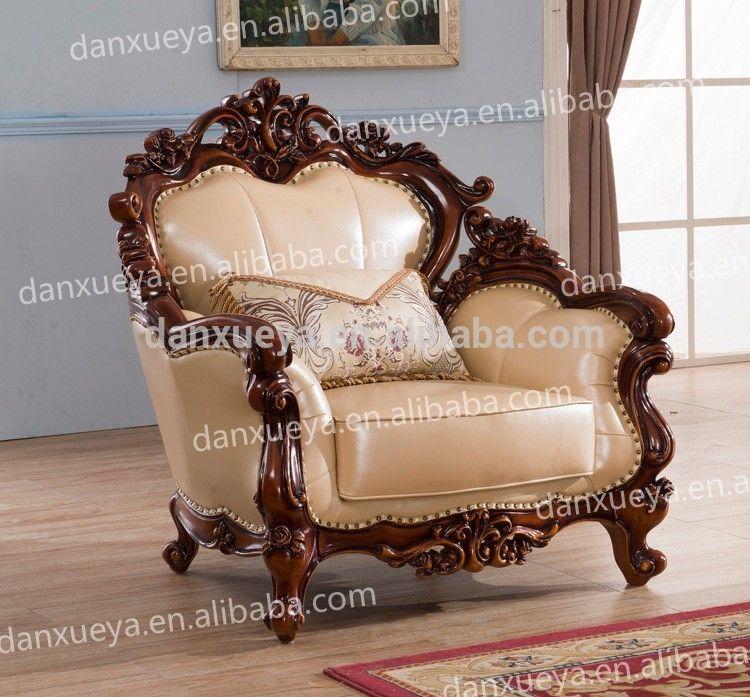 Danxueya Baroque Furniture Wooden Sofa Set Designs Pictures Of