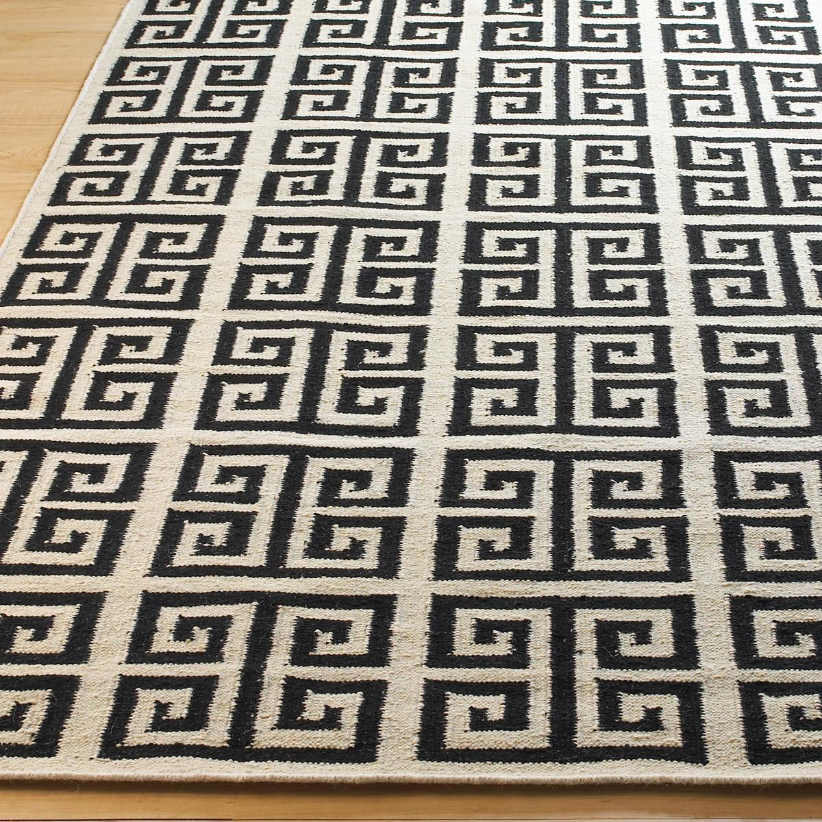 Greek Key Dhurrie Rug 4 Colors Showcasing A Labyrinth Of Design This
