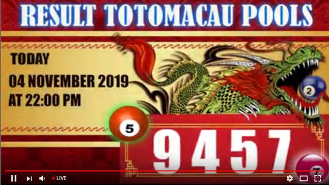 Togelmania Hasil Result Toto Macau Tm Hari Ini 04 November 2019 Periode 1484 Adalah 9457 Sah Daftar Di Www Autotogel O 11 Desember Permainan Angka Sydney