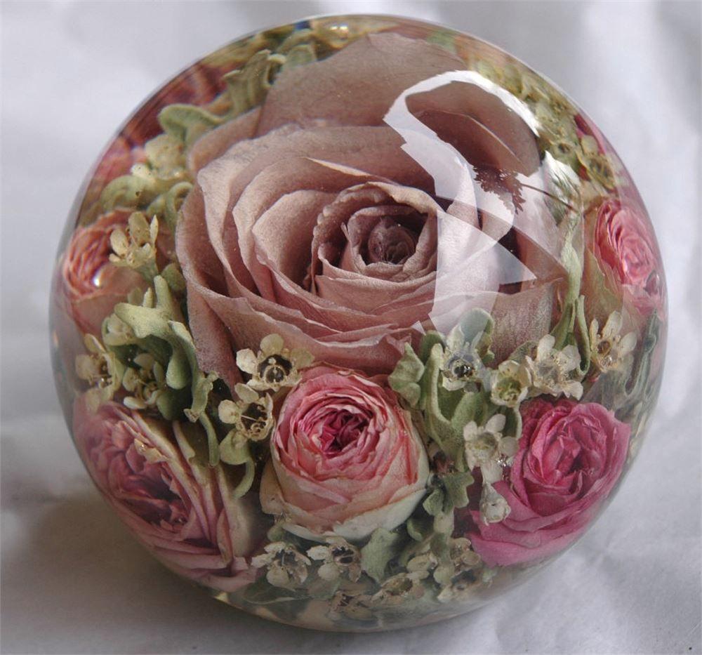 Millie Mackintosh bridal flower paperweight Wedding